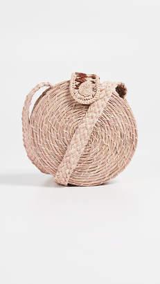 Kaanas Akumal Woven Circle Crossbody Bag
