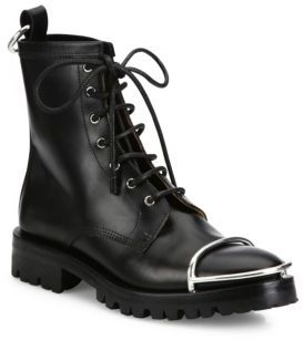 Alexander Wang Lyndon Metal Cap Toe Leather Booties $750 thestylecure.com