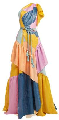 Peter Pilotto Tiered Ruffled Silk Blend Organza Gown - Womens - Multi
