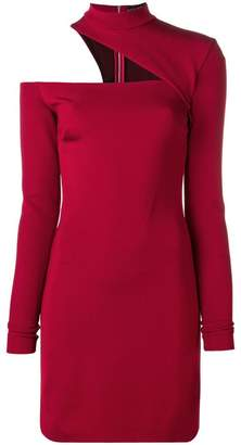 David Koma shoulder cut-out detail dress