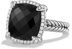 David Yurman Châtelaine Pavé Bezel Ring with Black Onyx and Diamonds