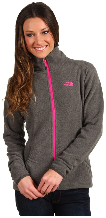 The North Face Masonic Full Zip (Graphite Grey Heather/Linaria Pink) - Apparel