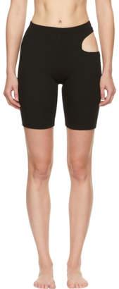 Marieyat Black Cut-Out Hunt Shorts