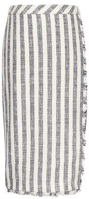 Banana Republic Stripe Tweed Pencil Skirt
