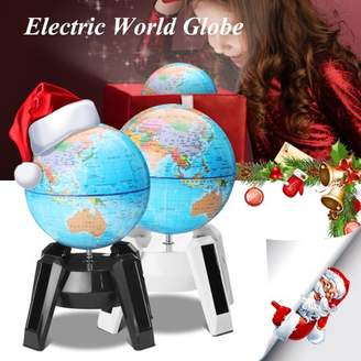 Kadell SOLAR POWER WORLD GLOBE LED Night Light Rotating Map of Earth Geography Desktop Political Globe Home Decoration Kid Birthday Christmas Gift