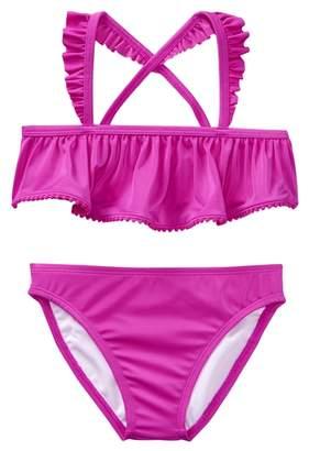 Crazy 8 Ruffle Pom-Pom Bikini
