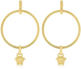 Versace Big Hoops Medusa Charm Earrings
