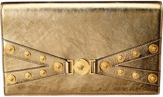 Versace Tribute Metallic Leather Clutch