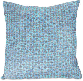 "Trademark Global Modern Geometric Textured Diamond 18"" Decorative Throw Pillow"