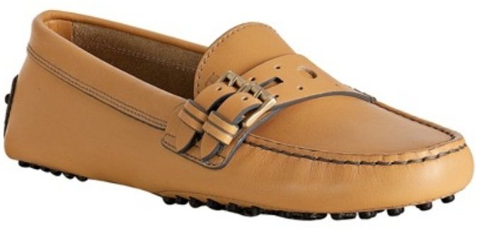 Tod's tan leather 'Gommini Marte' driving loafers
