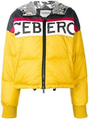 Iceberg logo print puffer jacket