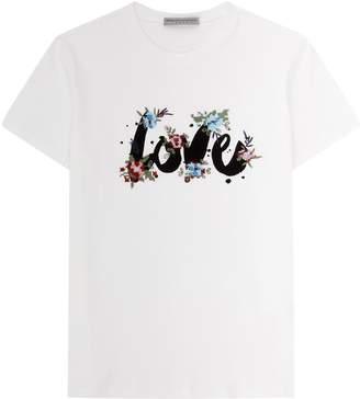Ermanno Scervino Cross Stitch Love T-Shirt