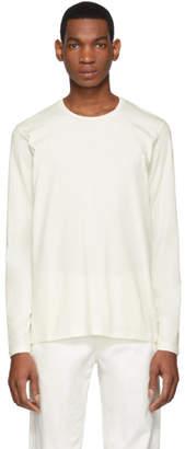 Jil Sander Off-White Cotton Long Sleeve T-Shirt