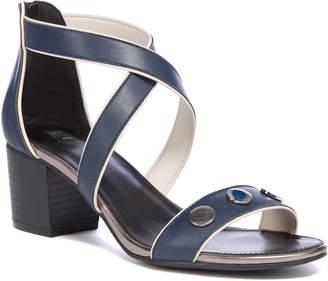 Tu Clothing Navy Block Heel Sandals