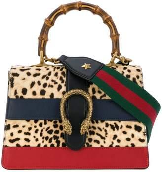 Gucci Leopard Dionysus pony tote bag