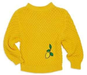 Mini Rodini Little Girl's & Girl's Lemon Knitted Sweater