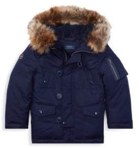 Ralph Lauren Little Boy's& Boy's Faux-Fur Trim Down Jacket