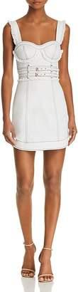 For Love & Lemons Daria Ruffle Denim Mini Dress