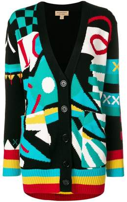 Burberry multi-patterned cardigan