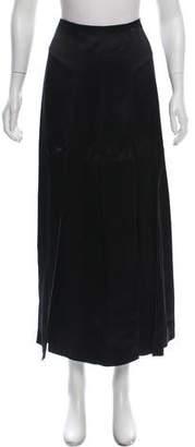 Chanel Silk Midi Skirt
