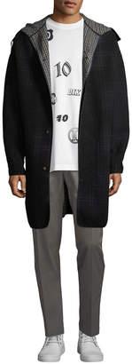 Lanvin Plaid Wool-Blend Coat