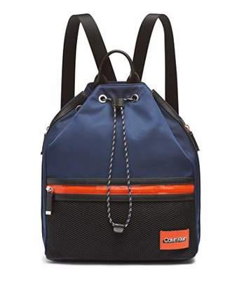 Calvin Klein Whendi Nylon & Mesh Draw String Backpack