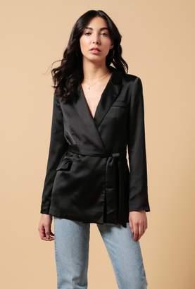 Azalea Satin Belted Jacket