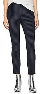 Rag & Bone Women's Simone Striped Cotton Slim Pants - Navy