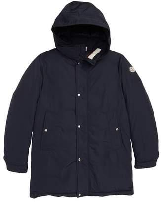 Moncler Layon Hooded Long Down Coat