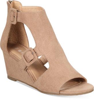Espirit Angel Wedge Sandals $59 thestylecure.com