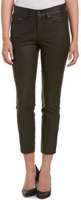 AG Jeans The Beau Dark Moss Leather Slouchy Slim Leg