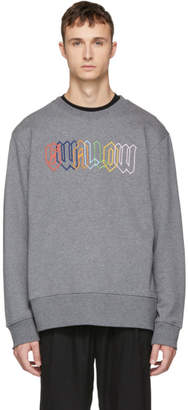McQ Grey Embroidered Swallow Sweatshirt