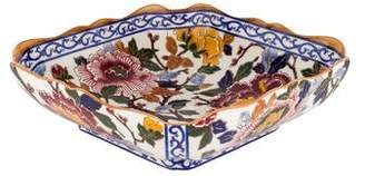 Gien Pivoines Square Fruit Bowl