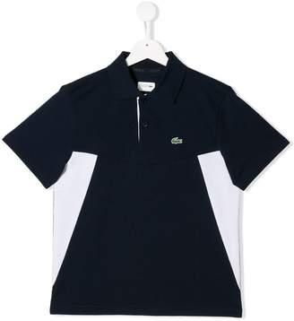 Lacoste Kids TEEN contrast panel polo shirt
