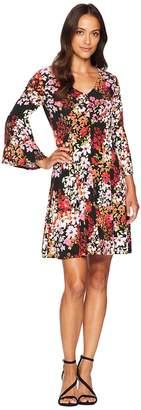 London Times V-Neck Fit Flare Dress Women's Dress