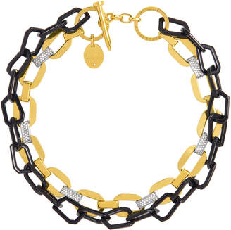 Henri Bendel Lenox Pave Link Necklace