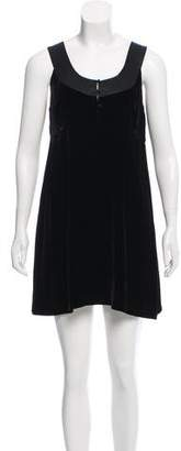 Joie Sleeveless Velvet Dress