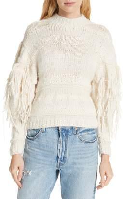 Ulla Johnson Delma Fringe Sleeve Sweater