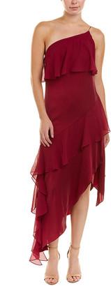 Haute Hippie Laura Silk-Blend Midi Dress