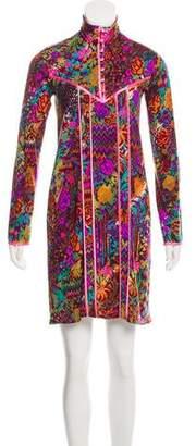 Matthew Williamson Printed Wool-Blend Dress