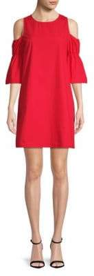 Saks Fifth Avenue RED Marie Cold-Shoulder Cotton Shift Dress