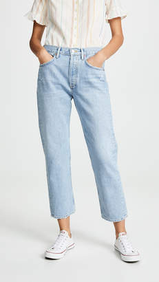 A Gold E Agolde Easy Straight Parker Jeans