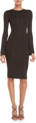 KENDALL + KYLIE Black Long Sleeve Bodycon Bandage Dress