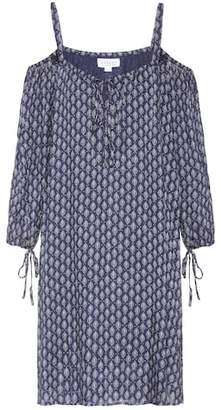 Velvet Genna off-the-shoulder printed dress
