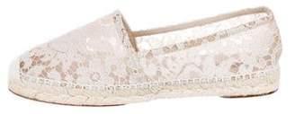Dolce & Gabbana Lace Round-Toe Espadrilles