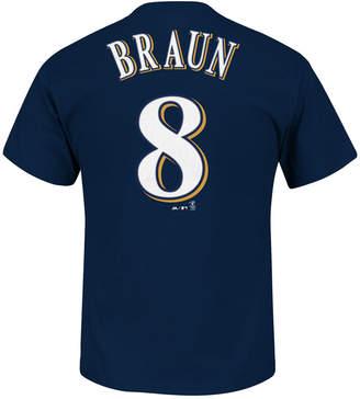 Majestic Men's Ryan Braun Milwaukee Brewers Player T-Shirt