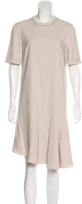 Brunello Cucinelli Wool-Blend Knee-Length Dress