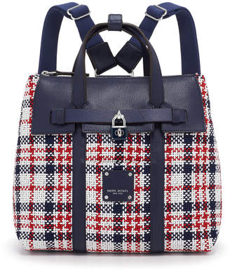 Henri Bendel Jetsetter Mini Convertible Plaid Backpack