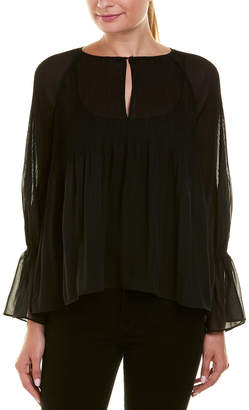 Ella Moss Pleated Top