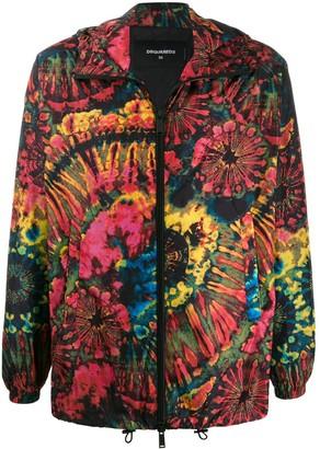 DSQUARED2 tie dye sports jacket
